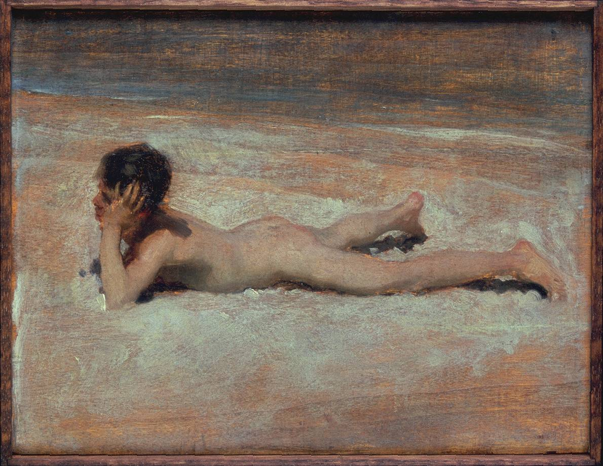 A Nude Boy on a Beach 1878 by John Singer Sargent 1856-1925